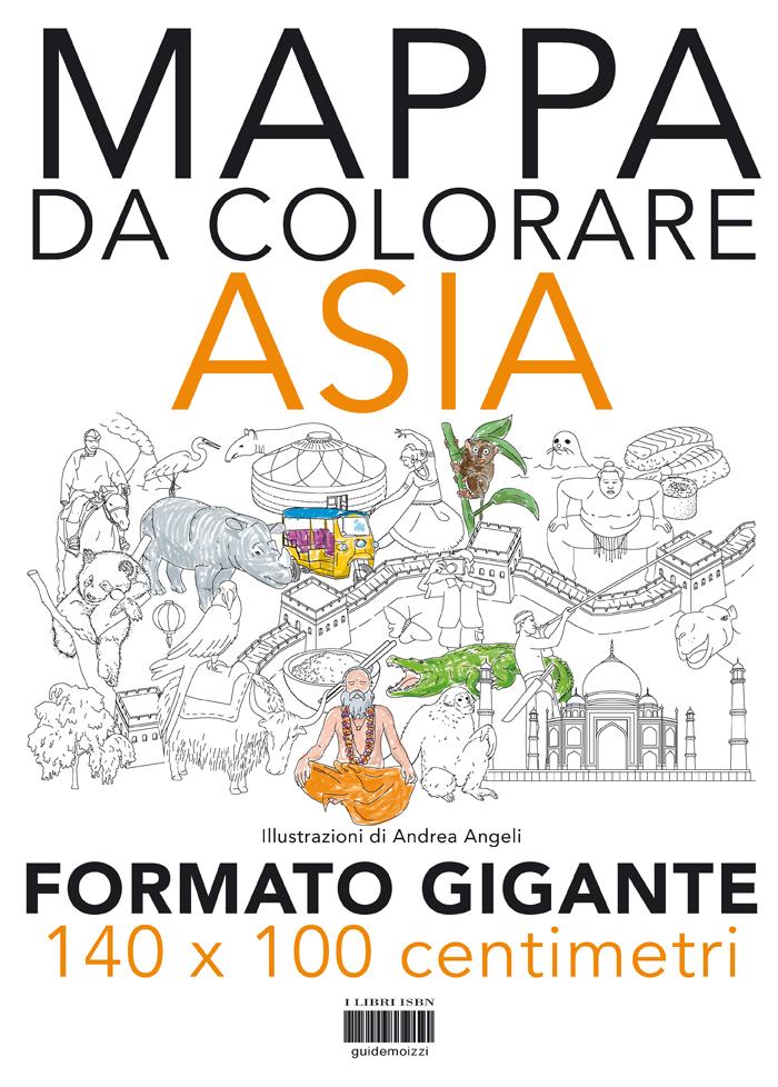 Cartina Asia Da Colorare.Mappa Da Colorare Asia Gigante