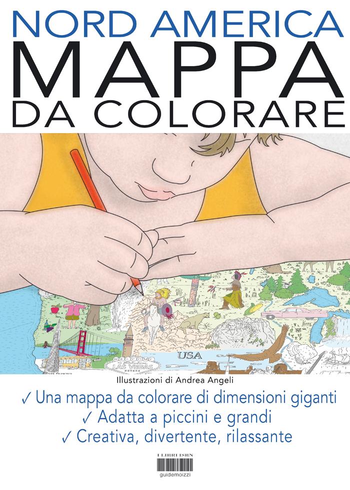 Mappa da colorare nord america formato gigante di andrea - Mappa messico mappa da colorare pagina ...