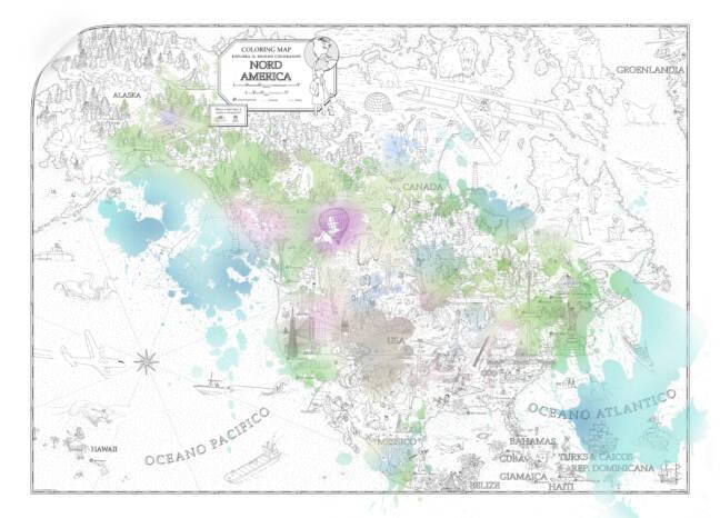 Mappa colorata NA