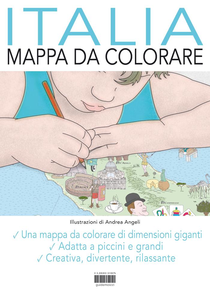 Cartina Asia Da Colorare.Mappa Da Colorare Italia Formato Gigante Di Andrea Angeli