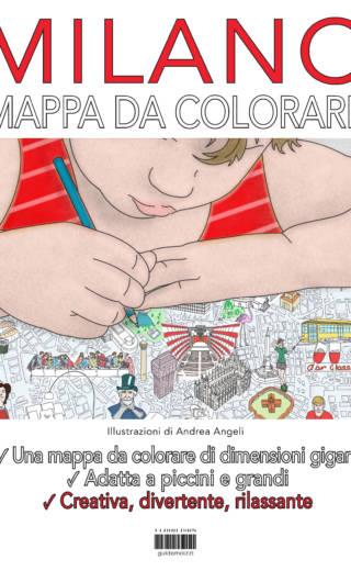 Mappa da colorare Milano gigante